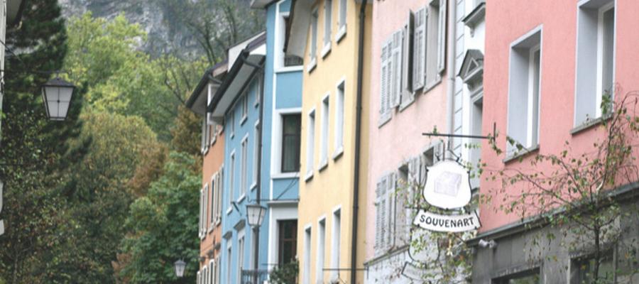 Feldkirch, Austria - This is Where You Stop between Switzerland and Liechtenstein