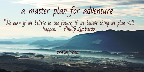 Master plan for adventure